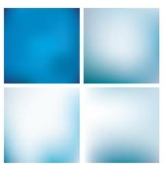 Blurred Blue Backgrounds Set vector image