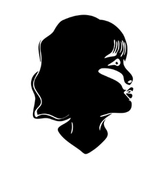 silhouette of girl vector image