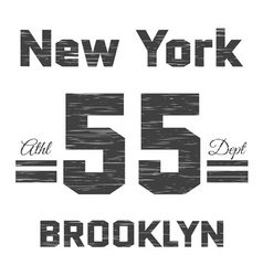 T shirt typography graphic New York Brooklyn vector image