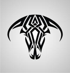 Tribal Bulls Head vector image vector image