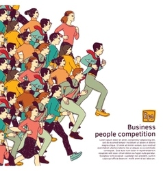 Business people big group competition color vector image
