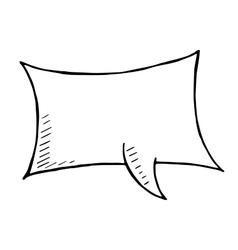 doodle speech bubble art vector image