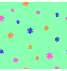 Flowers chaotic seamless pattern 703 vector image
