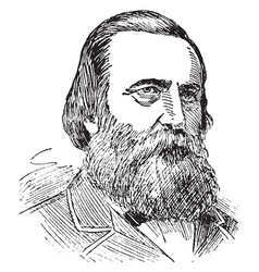 general james longstreet vintage vector image vector image