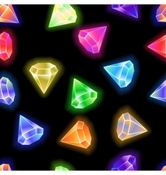 seamless pattern background gems and diamonds vector image vector image