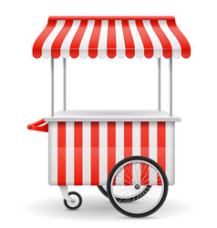 street food cart vector image vector image