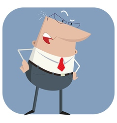 Surprised boss vector image vector image