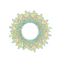 Vintage round frame colorfull summer hyppie vector image vector image
