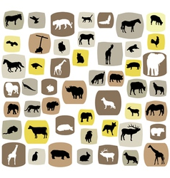 animal abstract vector image
