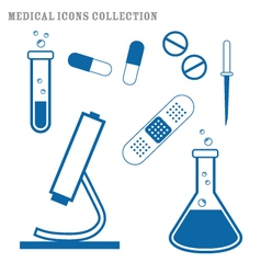 Medical supply icons set vector image