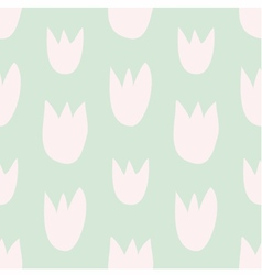 Pastel decoration background with floral print vector image vector image