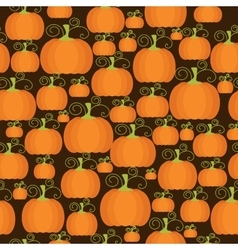 Seamless pattern with pumpkins vector image vector image