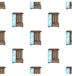 Vestibule wardrobe icon in cartoon style isolated vector