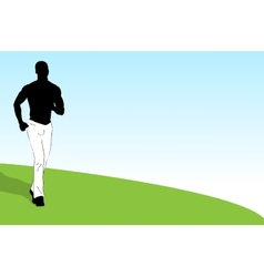 Young athlet banner vector image vector image