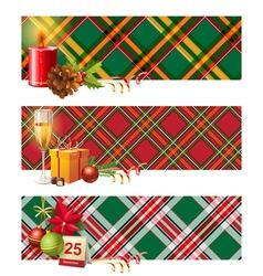 English Christmas borders vector image