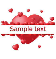 heart white background border text vector image vector image