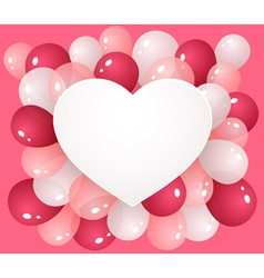 Heart with balloons vector image vector image