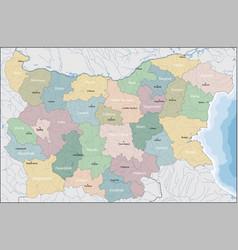 map of bulgaria vector image vector image