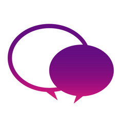 purple round chat bubbles icon vector image vector image