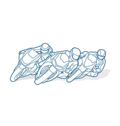 3 motorcycle racing team graphic vector