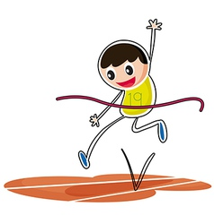 A kid jumping vector image