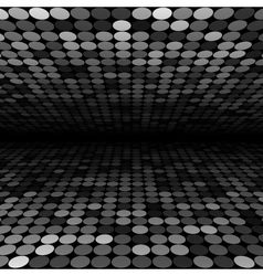 Abstract black white and grey disco circles vector image