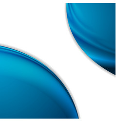 abstract smooth blue waves on white background vector image