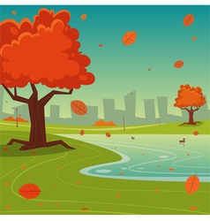 Autumn in the City vector image
