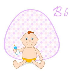 baby sitting background vector image