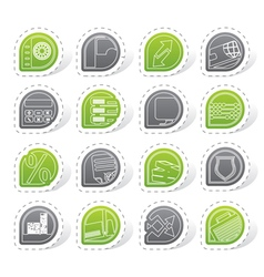 Bank business finance and office icons vector