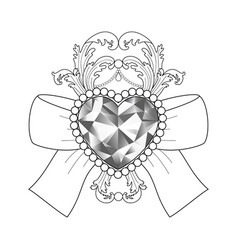 baroque diamond jewelry pattern luxury coloring vector image