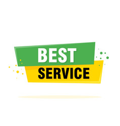 best service sign emblem label badge sticker vector image