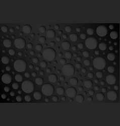 black abstract perforated background vector image