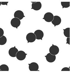 blank speech bubbles icon seamless pattern vector image