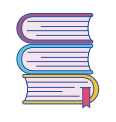 Books with important information to learn and read vector