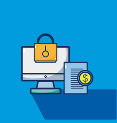 business and security vector image