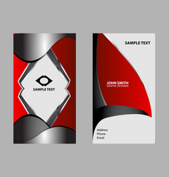 business cards template design vector image