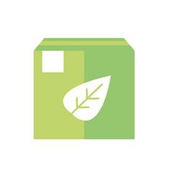 cardboard box nature green energy icon vector image
