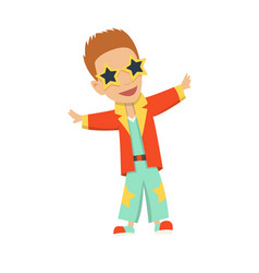 cartoon disco dancer with vector image