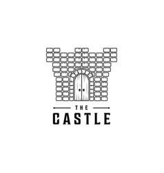 castle logo design template vector image