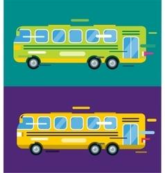 city bus cartoon style icon silhouette vector image
