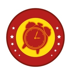 Clock alarm watch isolated icon vector