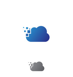 Cloud tech vector