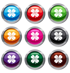 clover leaf set 9 collection vector image