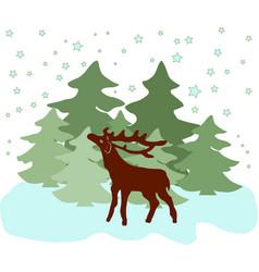 colorful of deer vector image