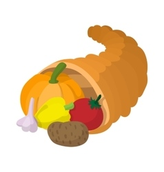 Cornucopia cartoon icon vector image