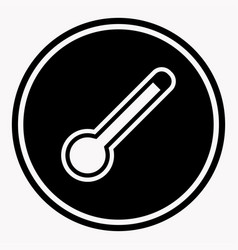 dangerously high temperature attention symbol vector image
