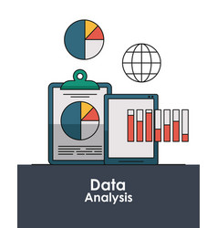 data analysis concept vector image