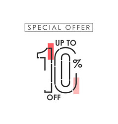 Discount up to 10 off special offer template vector