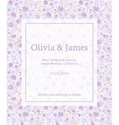 dotted invitation vector image